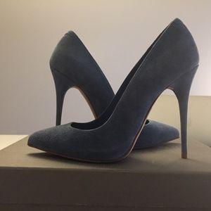 Alexander McQueen Sky Blue Suede Stilettos 36.5